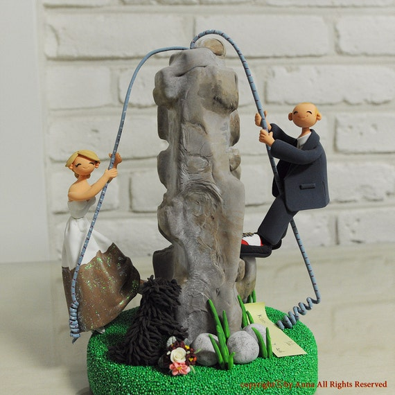rock climbing wedding cake toppers rock climbing rock climber theme wedding cake topper 19248