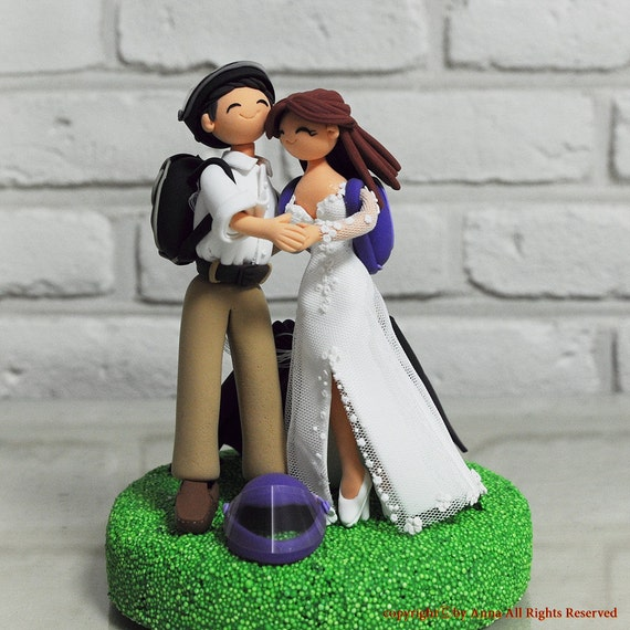 Custom Wedding Cake Topper - Sky diving Jumping - gift decoration