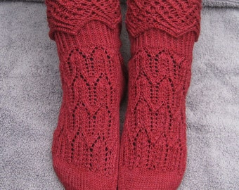 Knit Sock Pattern:  MuckleRow Fancy Cuffed Sock Pattern