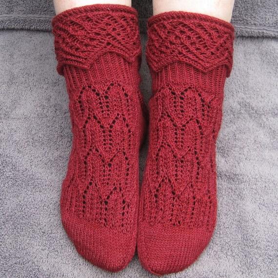 Knitting Pattern For Fancy Socks : Knit Sock Pattern: MuckleRow Fancy Cuffed Sock Pattern