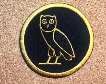 Egyptian Owl embroidered patches (3 inches) LIMITED