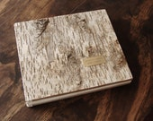 Birch Wood Wedding or Cabin Guestbook - rustic wedding memorial book vacation home anniversary gift handmade journal custom - made to order
