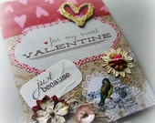 Valentine Card, For my Sweet Valentine, Love Card, handmade valentines day card, February 14
