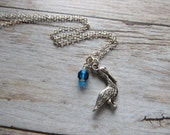Pelican Necklace -Giraffe Charm with an accent bead in your choice of colors