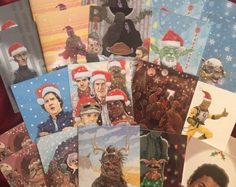 Star Wars Xmas Cards 28 Pack Combo Special