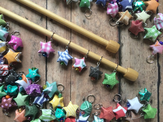 Origami Stitch Markers - Stars - Set of 5