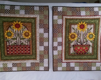 Colorful Sunflowers Wall Hanging Pair