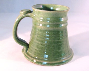 Large Stein - 24 oz. - Green Tankard - Stein - Coffee Mug - Handmade Pottery - Pottersong - Bright Green - Big Green Stein