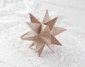 Paper Mache Star Ornament - 20 Point Moravian Christmas Star