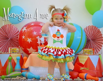 Circus Birthday Dress - 1st birthday outfit - Clown Birthday - Dress