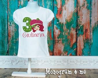 Strawberry Shortcake Birthday shirt - Doll
