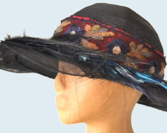 Embroidered Victorian Hat