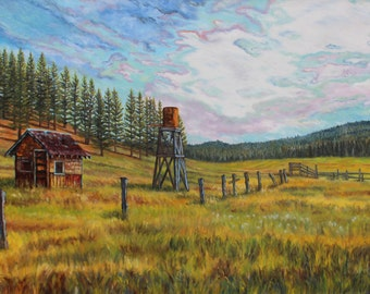 Hobart Mills Shepherd's Camp, Large Painting