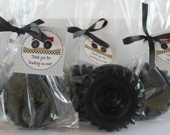 10 Monster Truck Tire Party Soap Favors:  Birthday favors, Nascar favors, monster truck, cars, trucks, tractor, tire favors