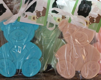 Large Teddy Bear Party Soap Favors:  Birthday favors, Baptism Favors, Christening Favors, Baby Shower Favors, Baby Sprinkle, Wedding Favors
