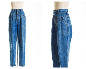 80s Dark Blue Mom Jeans size 12