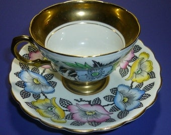 Vintage Rosina Tea Cup with Roses, 1950s