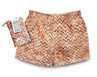 Mens Underwear, Dad Gift, Chevron Boxers, Boho Brown Boxers, Mens Gift, Boxer Shorts Batik