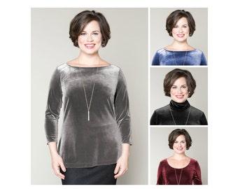 Velvet Top Customizable Neck Shape and Sleeve Length Misses & Plus Sizes 2-28