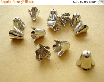 50% OFF Moving Sale - 50pcs Bead Caps Antiqued Pewter S-131