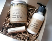 Vanilla Lavender Gift Set - All Natural Gifts for Her - Aromatherapy Gifts For Mom, Gifts For Women, Gifts Under 30