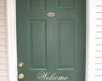 15% OFF Welcome -Vinyl Lettering wall words graphics Home decor itswritteninvinyl