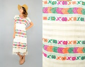 RESERVED • 70's Handwoven HUIPIL Mexican Dress