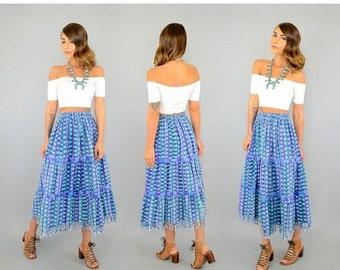 SUMMER SALE Guatemalan IKAT Skirt
