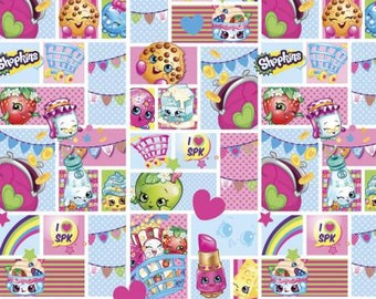 Shopkins Patch Party Cotton Fabric, 1 yard