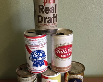 Vintage Pull Top Beer Can Collection