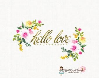 Rose Flower Logo Floral Logo Design Florist Logo Design Wedding Logo Graphic Design Photography Logo Bespoke Logo Design Watermark Logo