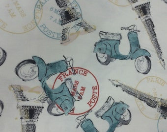 Paris by Moped - FLANNEL - BTY