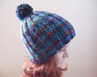 Wool Rib-Knit Hat