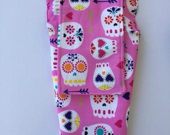 Blythe Doll Hammock - Pink Skulls