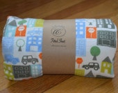 Flannel Fitted Crib Sheet - City Scene - SALE