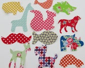 12 Assorted Baby Girl Iron On Appliques Baby Shower Activity