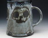 Skull Beer Mug, Triple Skulls Gothic Pint Mug