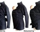 Maternity Jacket, Elegant Slim Fit Babywearing Coat, SPRING or FALL, Baby Wearing, Baby Clothes, Baby Wearing Coat.