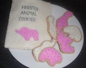 Felt frosted animal cookies