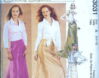 McCall's 3031 Evening Skirt & Blouse Sewing Pattern UNCUT Evening Elegance Long Floor Length Size 6, 8, 10