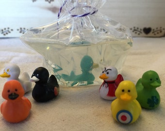 Carnival Duck Soap -  party favors - kid's soap - toys in soap - Oil Patch Farm -