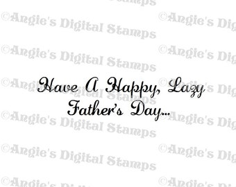 Happy Father's Day Quote Digital Stamp Image