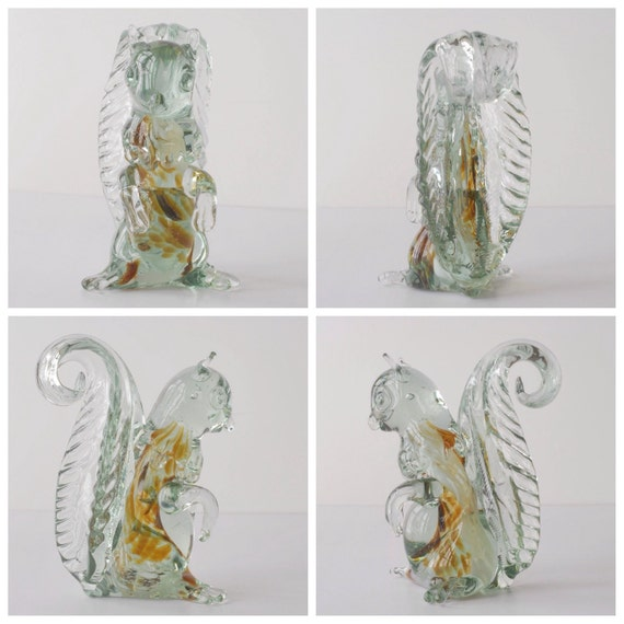 figure squirrel Vintage glass