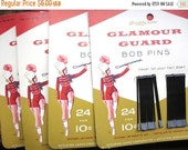 SALE15% Vtg NOS deadstock MIP Glamour Guard bobby pins / midcentury 1956 / Scoldy Lox / graphics typography / original packaging