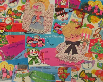 Collection of Vintage Christmas Gift Tags & A Few Seals