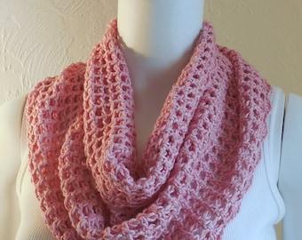 Soft pink cotton cowl
