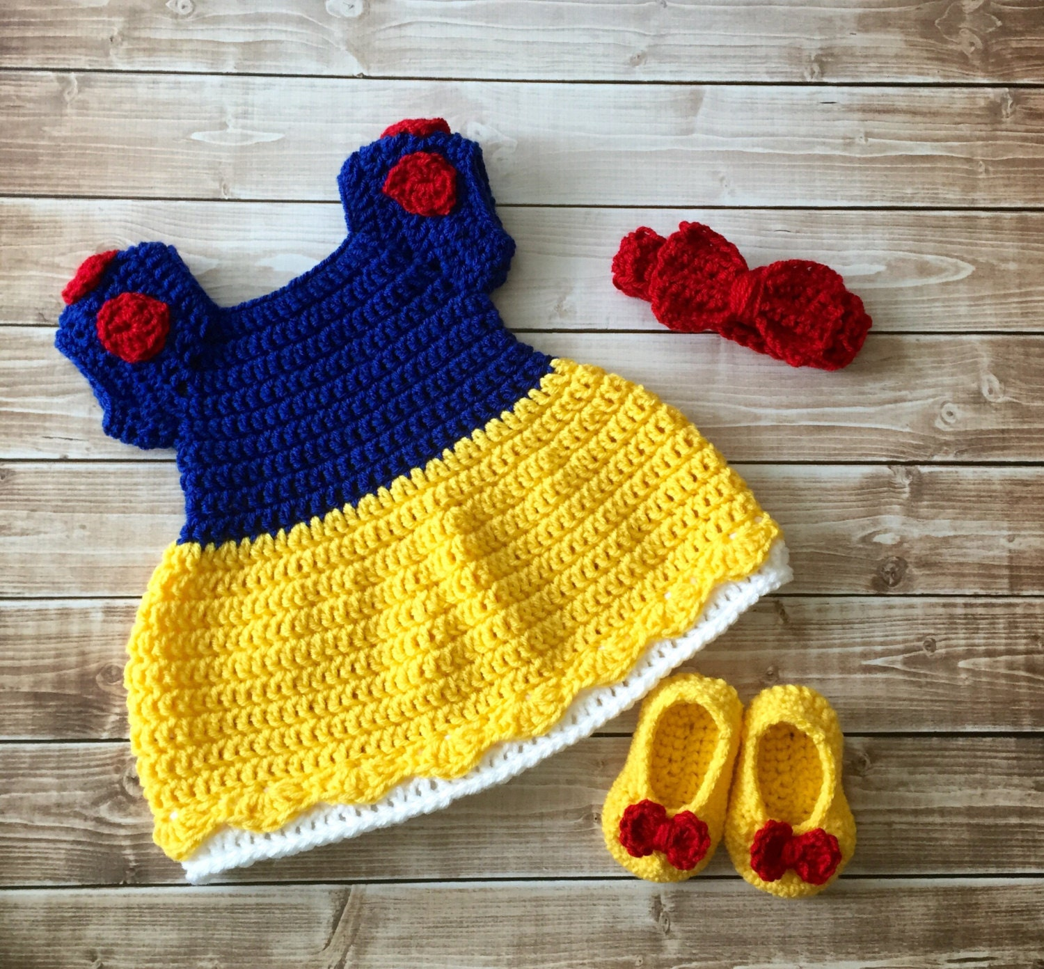 Free Crochet Pattern For Snow White Dress : Princess Snow White Inspired Costume/Crochet Princess Snow