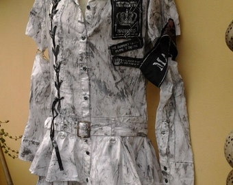 """20%OFF punk rock festival cos play painted dress...small to 34 """" bust...FREE SHIPPING"""