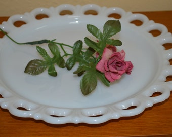 Old Colony Milk Glass Platter