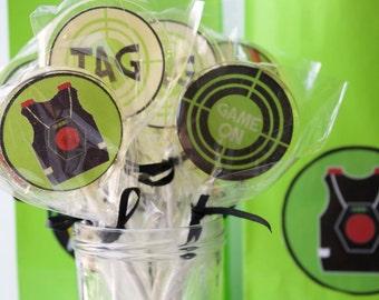 Laser Tag Party  Lollipops 8 pieces